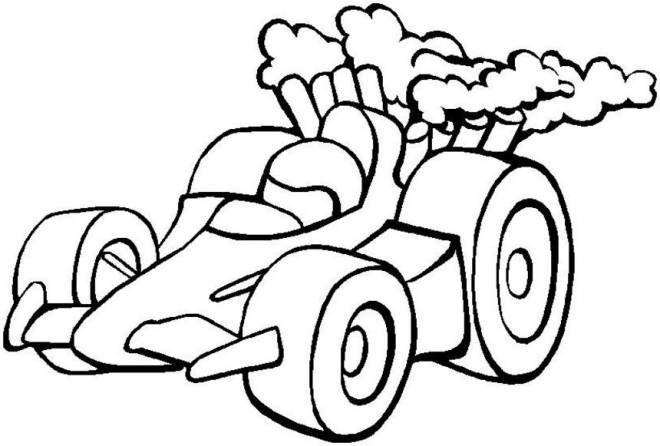 Free coloring and drawings Small racing car Coloring page