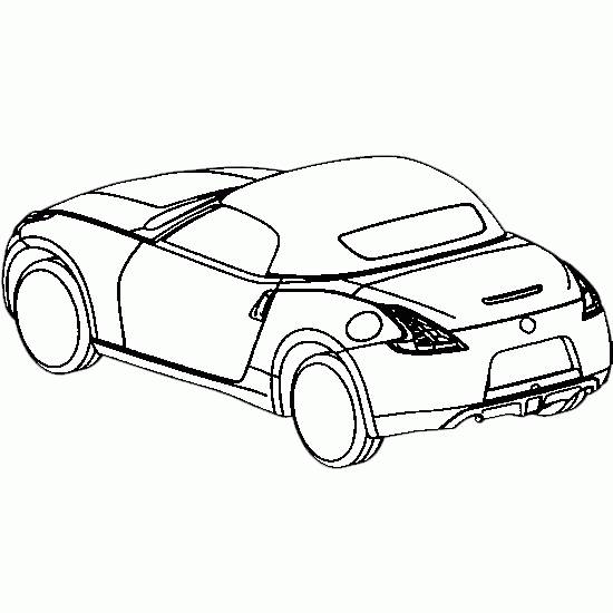 Free coloring and drawings Sports car coloring Coloring page