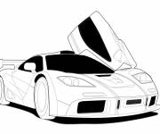 Free coloring and drawings Sports car in black to be completed Coloring page