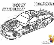 Coloring pages Tony Stewart's Nascar Race Car