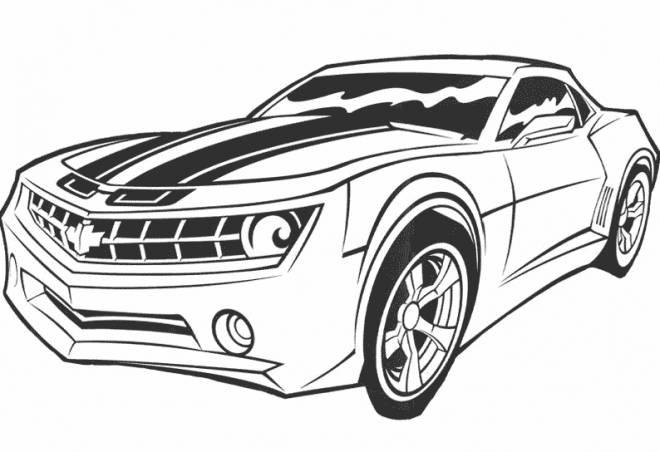 Free coloring and drawings Transformers Movie Car Coloring page