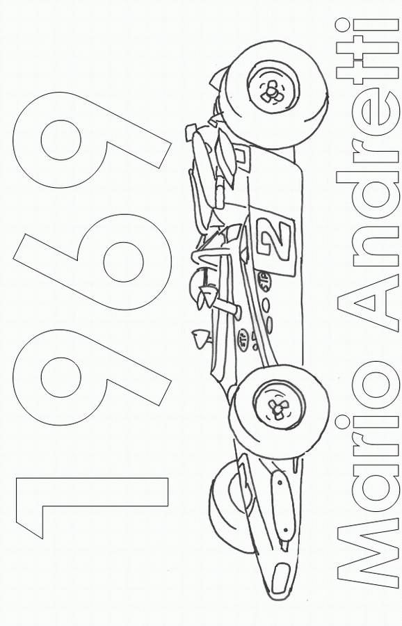 Free coloring and drawings Almighty racing car Coloring page