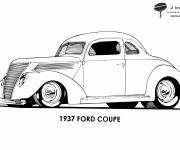 Free coloring and drawings Auto Ford Coupe Coloring page
