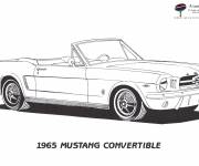 Free coloring and drawings Auto Mustang Convertible Coloring page