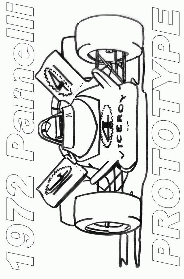Free coloring and drawings Auto racing car Coloring page