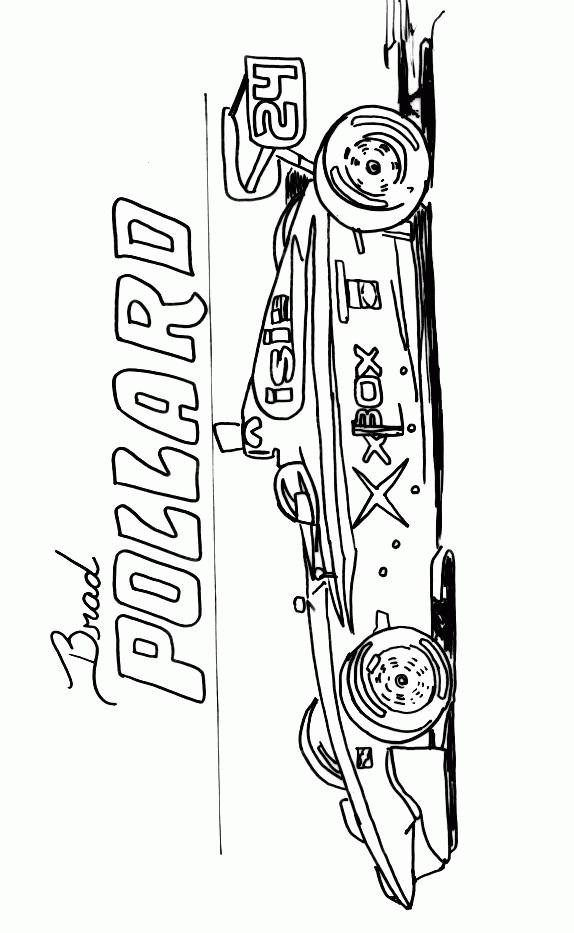 Free coloring and drawings Auto Racing Online Coloring page