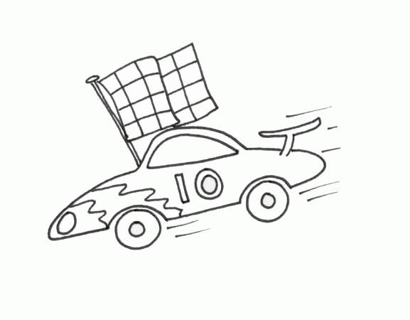 Free coloring and drawings Auto racing pencil Coloring page