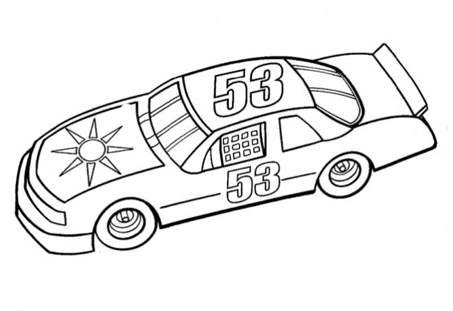 Free coloring and drawings Auto racing to download Coloring page