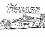 Coloring pages Black and white auto racing