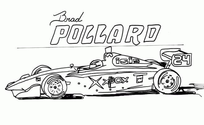 Free coloring and drawings Black and white auto racing Coloring page