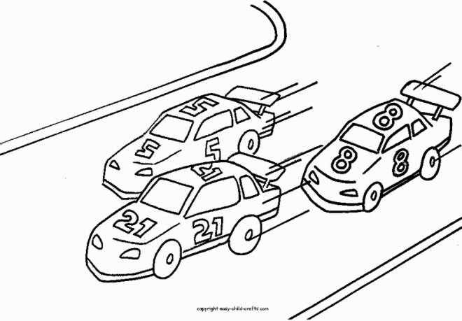 Free coloring and drawings car racing Coloring page