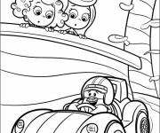 Coloring pages Cartoon racing auto