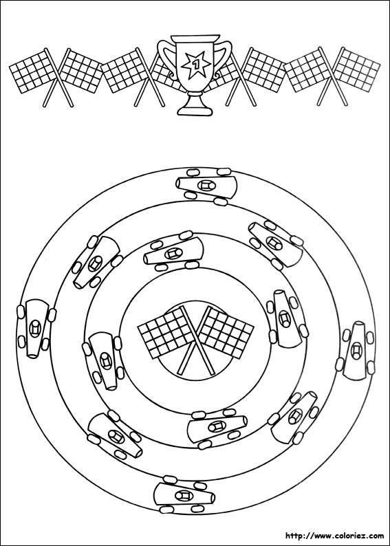Free coloring and drawings Children's racing car Coloring page