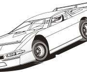Free coloring and drawings Color racing car Coloring page
