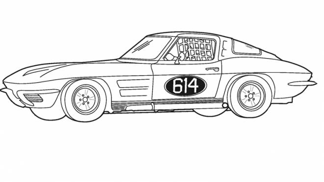 Free coloring and drawings Coupe sports car Coloring page