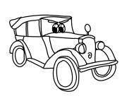 Coloring pages Custom classic racing auto