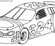 Coloring pages Decorated racing cars
