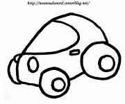 Free coloring and drawings Easy car Coloring page
