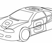 Free coloring and drawings Easy racing auto Coloring page
