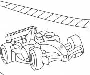 Coloring pages Formula 1 Car in Race