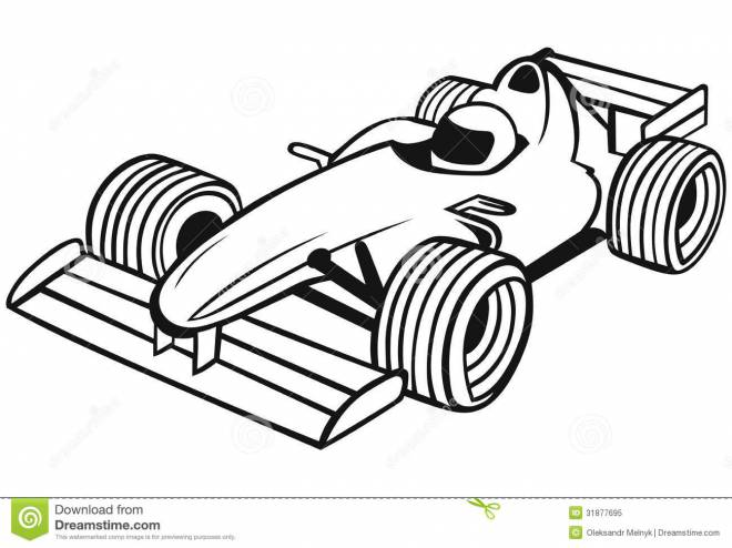 Free coloring and drawings Formula 1 Race Coloring page