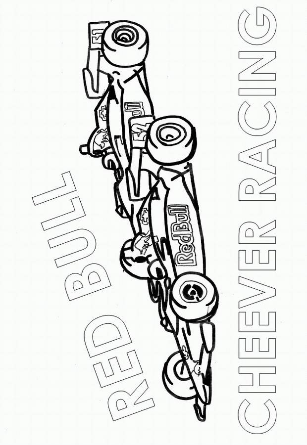 Free coloring and drawings Formula 1 Race online Coloring page