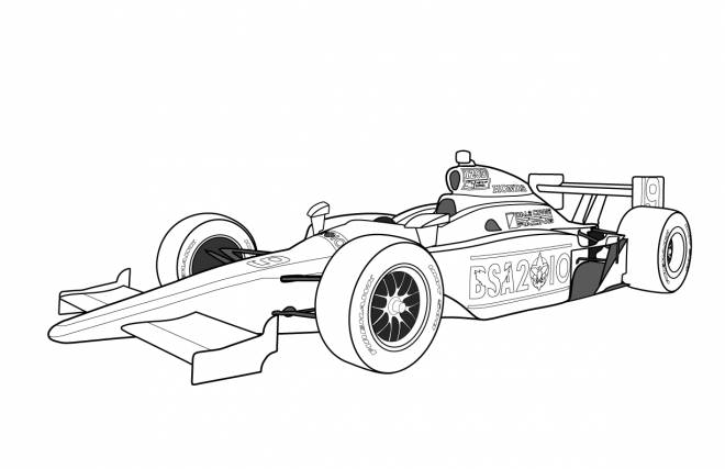 Free coloring and drawings Formula One racing car Coloring page