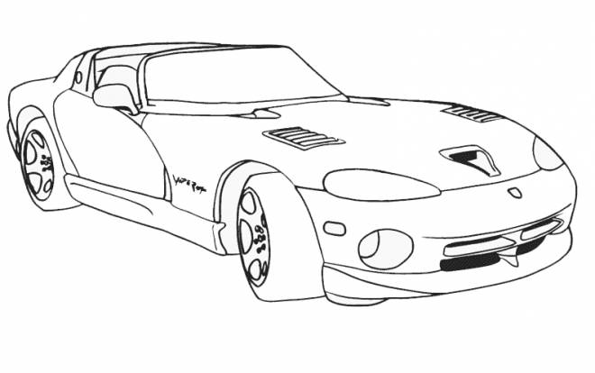 Free coloring and drawings Luxury racing car Coloring page