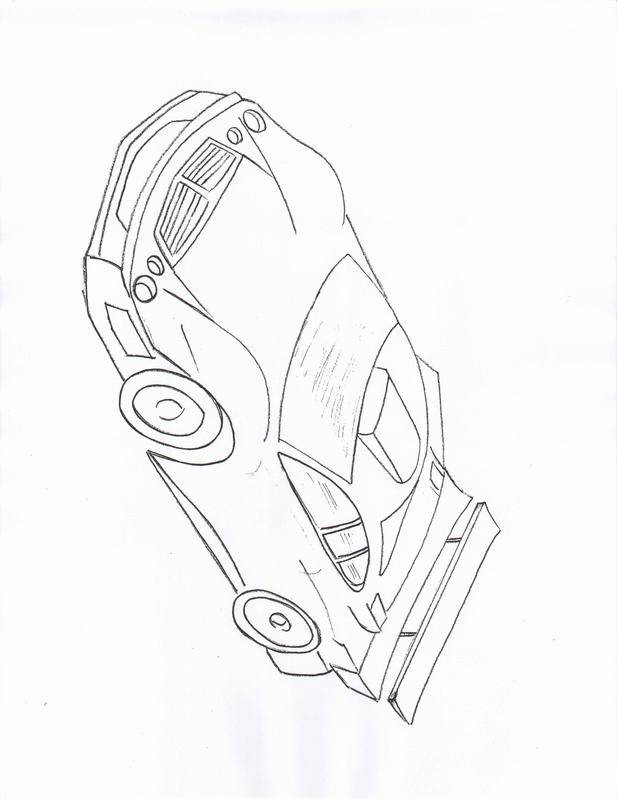 Free coloring and drawings Mclaren racing car Coloring page