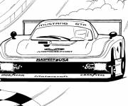 Coloring pages Nascar racing car