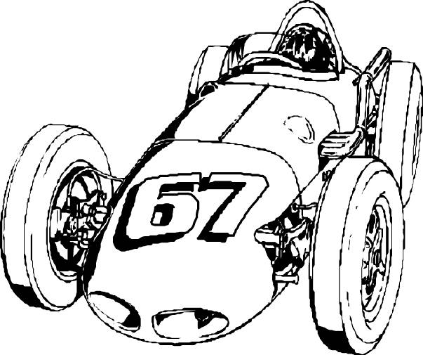 Free coloring and drawings old classic racing car Coloring page