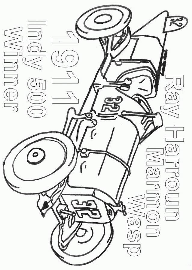 Free coloring and drawings Old racing car Coloring page