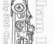 Coloring pages Race Auto Indy