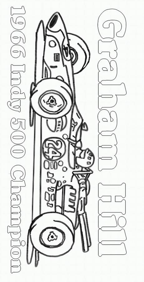 Free coloring and drawings Race Auto Indy Coloring page