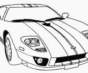 Coloring pages Race Auto Mustang