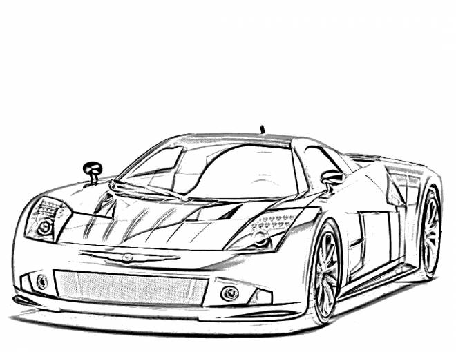 Free coloring and drawings Race car Coloring page