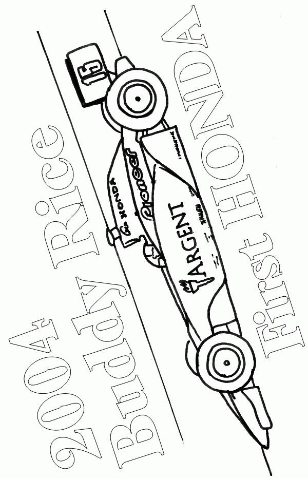 Free coloring and drawings Race car coloring Coloring page