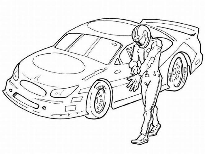 Free coloring and drawings Race Car Driver Coloring page