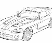 Coloring pages Race car in black