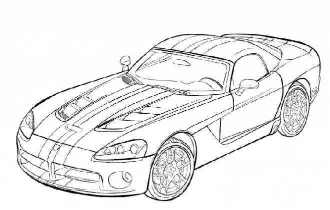 Free coloring and drawings Race car in black Coloring page