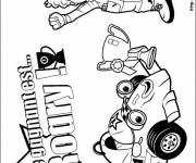 Coloring pages Racing Auto Comic