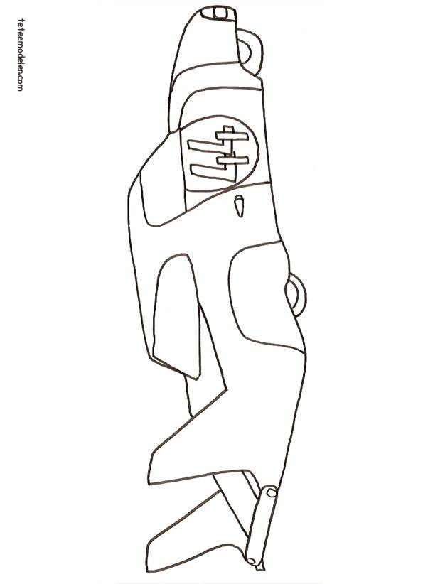 Free coloring and drawings Single stroke auto Coloring page