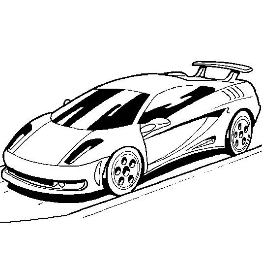 Free coloring and drawings Vector Sports Auto Coloring page