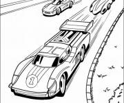 Free coloring and drawings Very fast car racing Coloring page