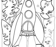 Free coloring and drawings Color rocket Coloring page