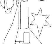 Coloring pages Space rocket illustrations