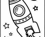Free coloring and drawings Vector space shuttle Coloring page