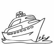 Coloring pages A boat