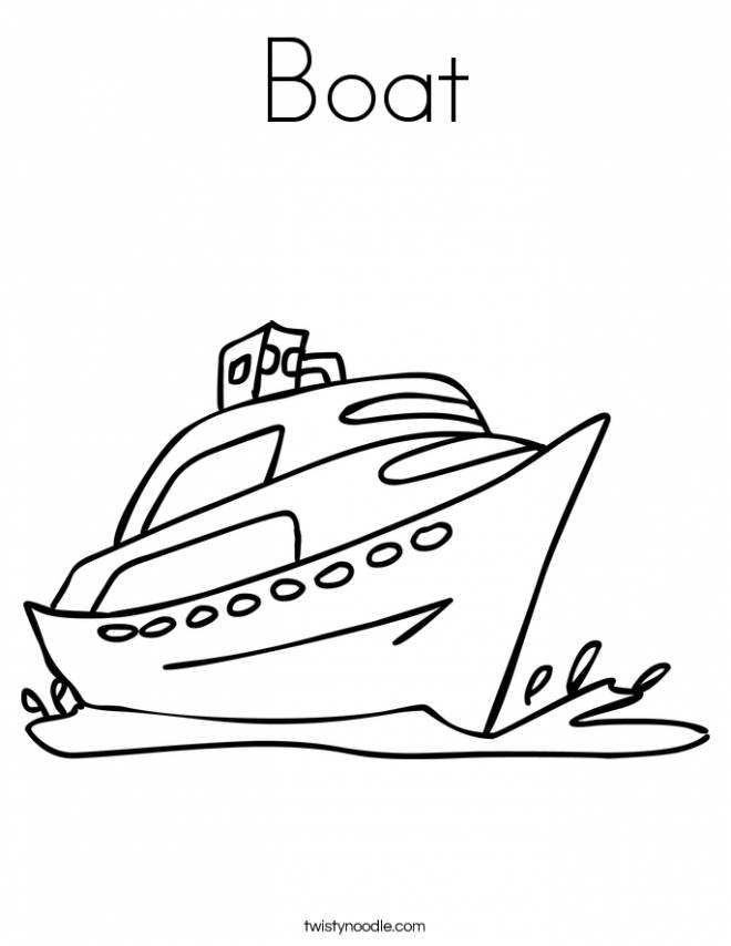 Free coloring and drawings A boat Coloring page