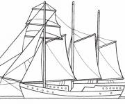Coloring pages A large old sailing ship